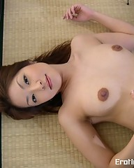 Japanese Natsumi showing her hairy pussy
